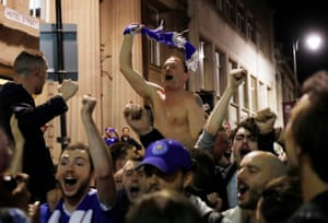 The celebrations continue in the streets of the city.