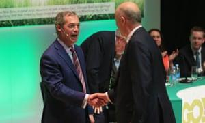 Chris Grayling and Nigel Farage