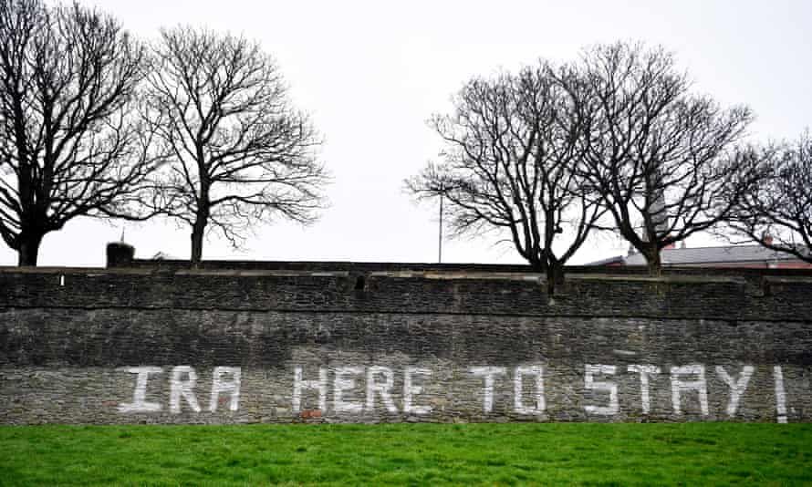 A wall facing the Republican area of Bogside, Derry, 2019.