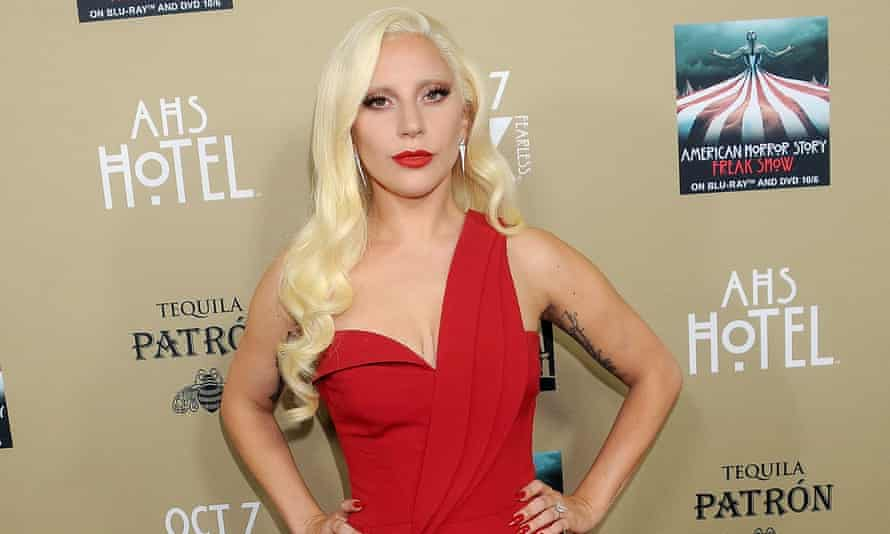 Lady Gaga arrives at the premiere screening of American Horror Story: Hotel in Los Angeles.