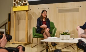 Lisa Nandy speaking at the RSA.