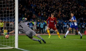 Zaniolo scored twice for Roma when they beat Porto at the Stadio Olimpico to reach the Champions League quarter-finals.