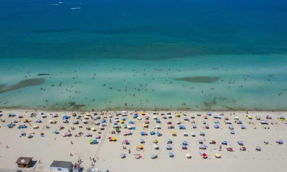 The beach at Izmir, Turkey, a country newly removed from the red list, making holidays more affordable.