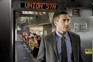 Jake Gyllenhaal in Source Code: the ticking gets louder and louder.