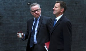 Michael Gove, left, and Jeremy Hunt.