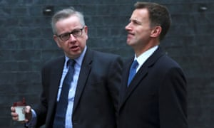 Jeremy Hunt and Michael Gove (left)
