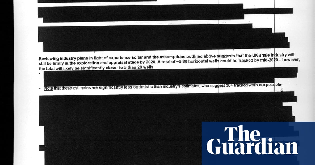 'Black wall' as government releases its report on fracking