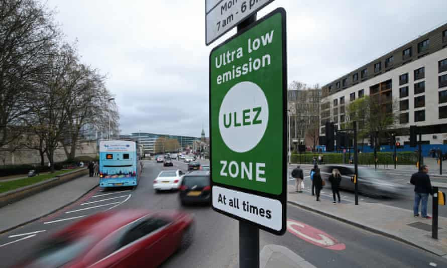 An Ultra Low Emission Zone sign in London