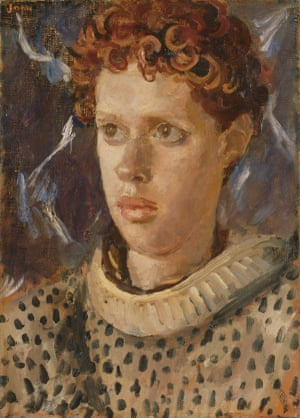 A full view of the NPG's Dylan Thomas portrait