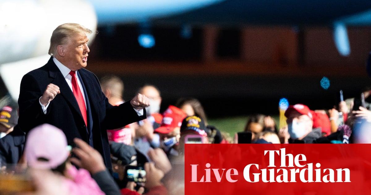 Trump cuts short pre-election interview as Covid stimulus bill moves closer – live – The Guardian