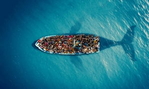 Refugees by Moustafa JacoubAll works: Courtesy British Red Cross