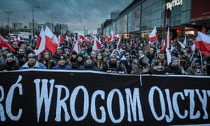 Polish nationalists march in November 2017.