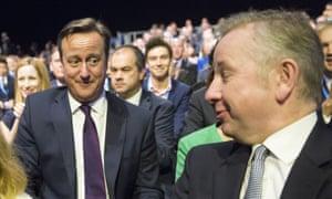 David Cameron and Michael Gove (right) in 2015.