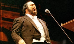The Italian tenor Luciano Pavarotti
