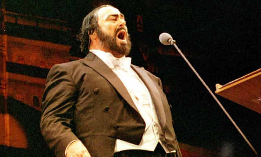 The Italian tenor Luciano Pavarotti