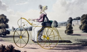 Tricycling for Ladies, c 1820.