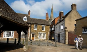 Small but perfectly formed: the buttercross and market square in Oakham.