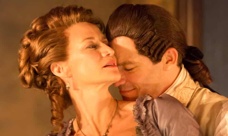 'No holds barred': Janet McTeer purrs while Dominic West potters in Les Liaisons Dangereuses at the Donmar Warehouse.