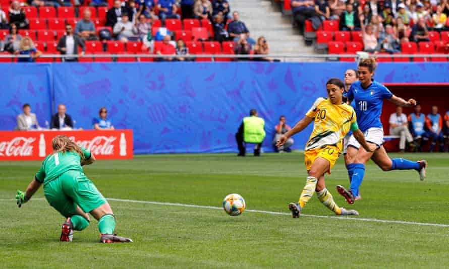 Sam Kerr scored five goals for Australia at this year's World Cup.
