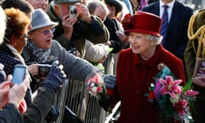 The queen visiting Liverpool in 2011