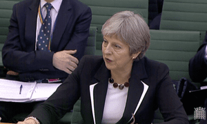 Theresa May at the liaison committee.