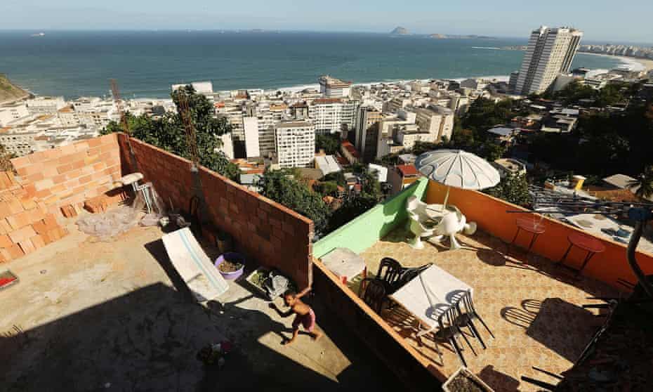 The Babilônia favela above Copacabana beach, one of Rio's most desirable areas.