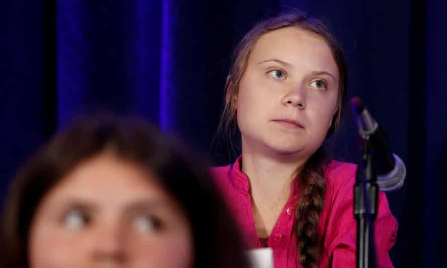 Greta Thunberg at the UN on Monday. Fox News said: 'The comment made by Michael Knowles was disgraceful. We apologize to Greta Thunberg and to our viewers.'