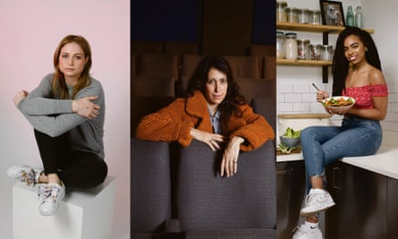 L-r: Actor Niamh Algar, film director Harry Wootliff, food blogger Rachel Ama.