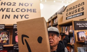 A Day of Action in New York City against the Amazon HQ on 26 November
