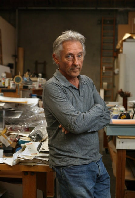Ed Ruscha poses for photographs in his studio in Venice, November 23, 2009.
