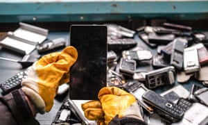 Try to avoid throwing away phones.