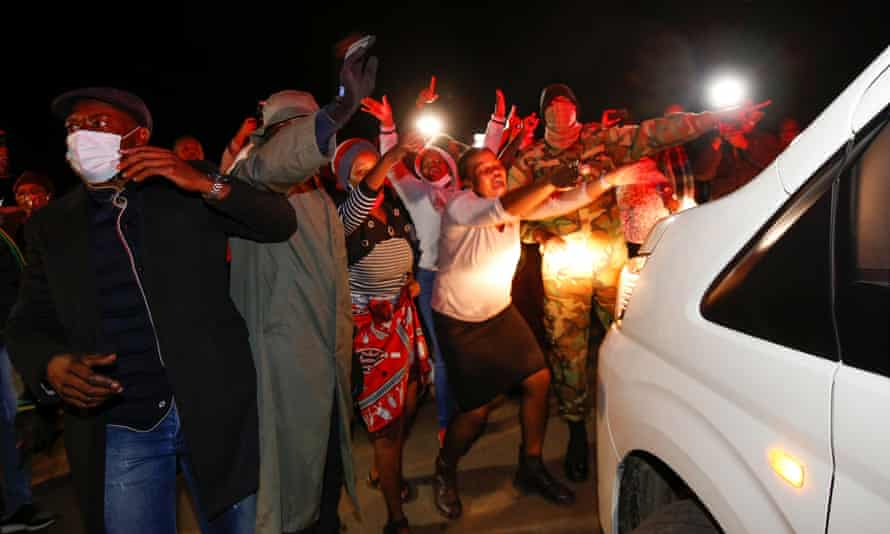 Supporters of former South African President Zuma rally in Nkandla