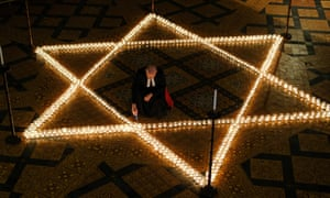 Preparations for Holocaust Memorial Day at York Minster last month.