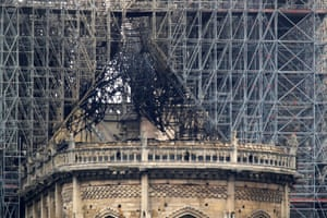 The cathedral's gutted roof