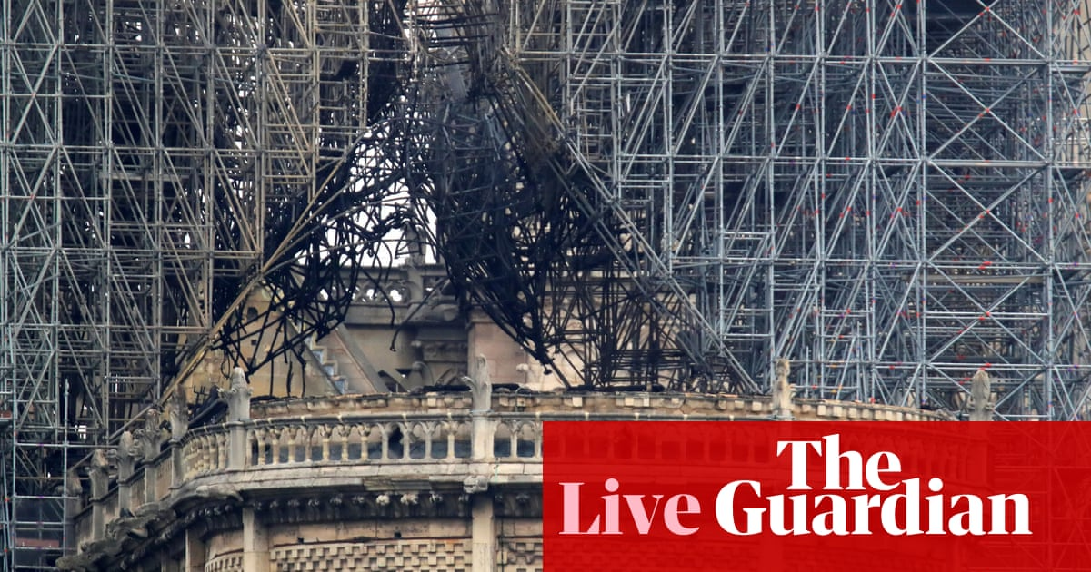 Notre Dame fire: artworks to be sent to Louvre as donations pour in – live updates | World news | The Guardian