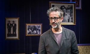 Unvarnished truth … David Baddiel performs My Family: Not the Sitcom at the Menier Chocolate Factory, London.