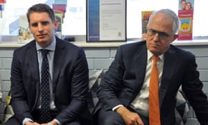 Member for Canning Andrew Hastie (left) and Prime Minister Malcolm Turnbull