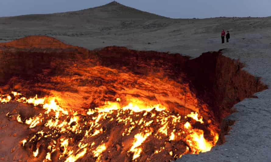 Turkmenistan's Darvaza Crater otherwise known as the door to hell.