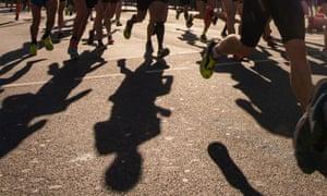 The Hamburg marathon in Germany yesterday