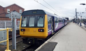 A Pacer train at Doncaster station