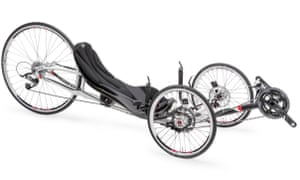 Three wheels good: the ICE VTX trike's 'tadpole' configuration makes it incredibly stable