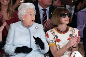 The Queen and Vogue editor Anna Wintour
