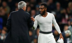 Danny Rose with José Mourinho after Tottenham's Champions League win over Olympiakos.