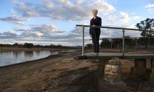 Tracy Dobie on a marooned jetty