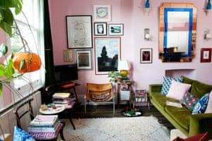 Luke Edward Hall's living room.
