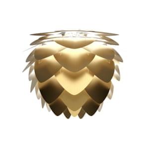Aluvia mini brushed brass lampshade, €249, by Umage