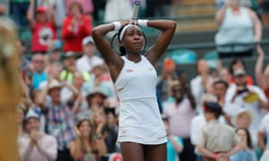 Coco Gauff almost cannot believe she has beaten Venus Williams at Wimbledon.