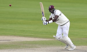 West Indies captain Jason Holder in action at Old Trafford.
