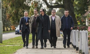 The World's End featuring (from left) Martin Freeman, Paddy Considine, Simon Pegg, Nick Frost and Eddie Marsan.