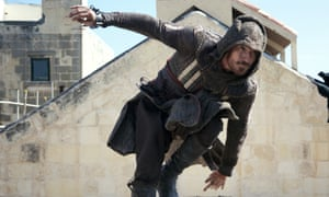 Fassbender in Assassin's Creed.